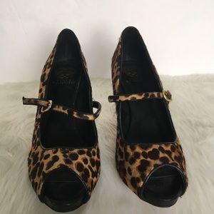 Vince Camuto Leopard Heels / Size 10